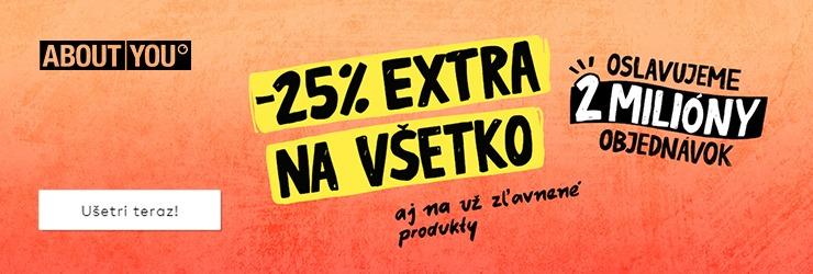 ZĽAVA -25% EXTRA NA VŠETKO na AboutYou.sk