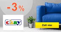 ZĽAVA -3% → EXTRA NA NÁBYTOK na Okay.sk