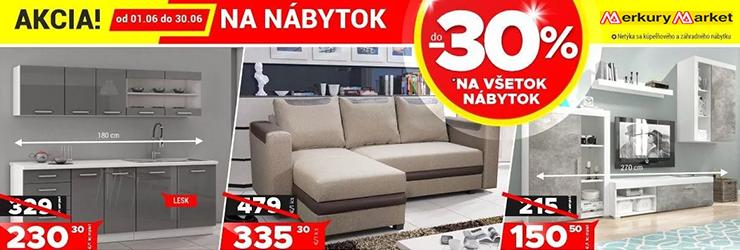 ZĽAVA -30% NA NÁBYTOK na MerkuryMarket.sk