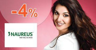 ZĽAVA -4% na všetko k nákupu na Naureus.sk