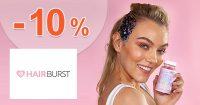 ZĽAVOVÝ KÓD → -10% NA VŠETKO na HairBurst