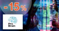 ZĽAVOVÝ KÓD → -15% NA VŠETKO na ProBrain.sk
