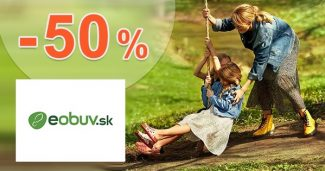 ZĽAVOVÝ KÓD → -50% EXTRA ZĽAVA na eObuv.sk
