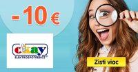 ZĽAVOVÝ KÓD -10€ EXTRA ZĽAVA na Okay.sk