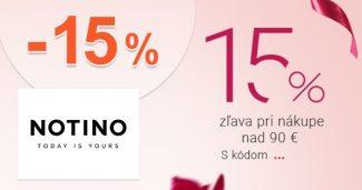 ZĽAVOVÝ KÓD -15% NA VŠETKO na Notino.sk