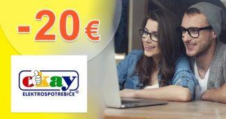 ZĽAVOVÝ KÓD -20€ NA SPOTREBIČE na Okay.sk