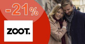 ZĽAVOVÝ KÓD -21% ZĽAVA NA VŠETKO na ZOOT.sk