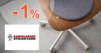 Zľava -1% na všetko na KancelarskeStolicky.com