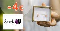 Zľava -4€ na všetko na prvý nákup na Sperky4u.eu