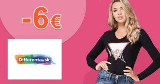 Zľava -6€ na všetko na prvý nákup na Differenta.sk
