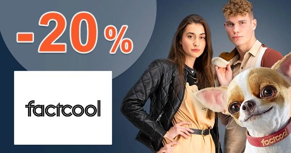 Zľavový kód → -20% na MEGA ZNAČKY z FactCool