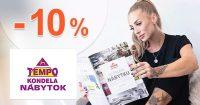 Zľavový kód -10% NA VŠETKO na TempoNabytok.sk