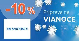 Zľavový kód -10% na všetko na Vianoce na Marimex