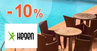 Zľavový kód -10% na záhradný nábytok na Hegen.sk
