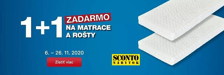 Zľavový kód 1+1 ZDARMA na SPÁNOK na Sconto.sk