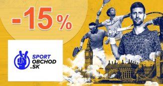 Zľavový kód -15% NA TENIS na SportObchod.sk