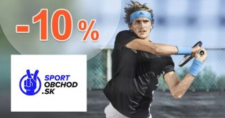 Zľavový kód -15% na Adidas na SportObchod.sk