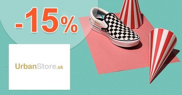 Zľavový kód -15% zľava na všetko na UrbanStore.sk