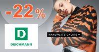 Zľavový kód -22% NA VŠETKO na Deichmann.com