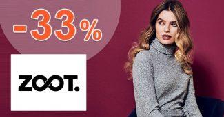 Zľavový kód -33% NA UŽ ZĽAVNENÉ na ZOOT.sk