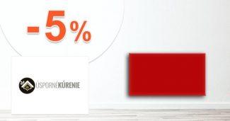 Zľavový kód -5% na všetko na Usporne-Kurenie.sk