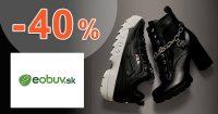 Zľavový kód až -40% EXTRA ZĽAVA na eObuv.sk