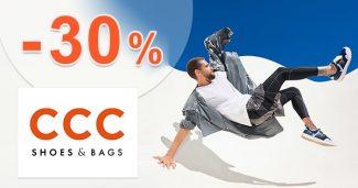 Zľavový kód do -30% na značkovú obuv na CCC.eu