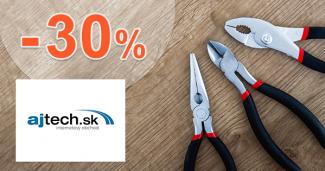 Ajtech.sk zľavový kupón na zľavu -30% na spotrebnú elektroniku