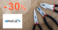 Ajtech.sk zľavový kupón na zľavu -30% na záhradnú techniku