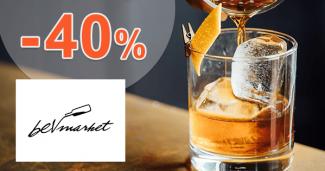 Akcie na alkohol a zľavy až -40% na BevMarket.sk, kupón, zľava