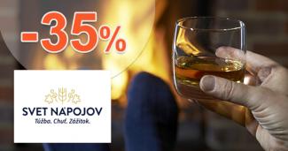 Akcie na alkohol a zľavy až -35% na SvetNapojov.sk, kupón, zľava