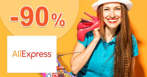 AliExpress.com zľavový kód zľava -90%, kupón, akcia, výpredaj