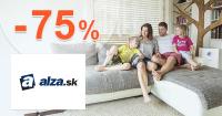 Alza.sk zľavový kód zľava -75%, kupón, akcia, zľavy, výpredaj