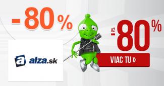 Alza.sk zľavový kód zľava -80%, kupón, akcia, výpredaj