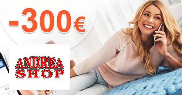 AndreaShop.sk zľavový kód zľava -300€, kupón, akcia, okamžitá zľava