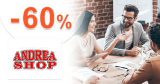 AndreaShop.sk zľavový kód zľava -60%, kupón, akcia, výpredaj na kacelársky a školský sortiment