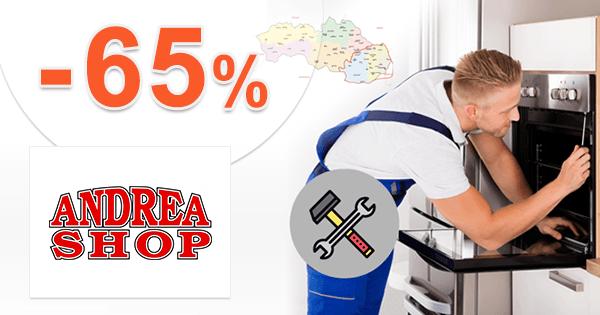 AndreaShop.sk zľavový kód zľava -65%, kupón, akcia, výpredaj na bielu techniku