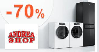 AndreaShop.sk zľavový kód zľava -70%, kupón, akcia, výpredaj, akcie, zľavy