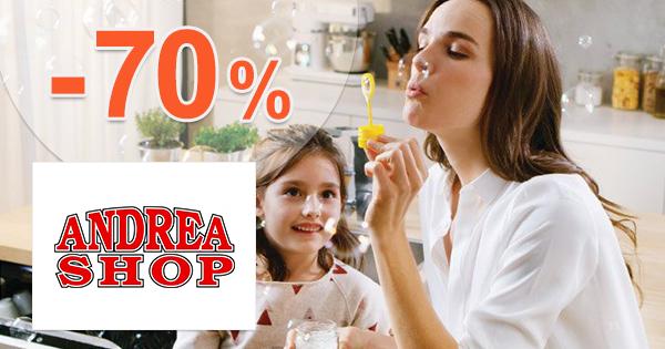 AndreaShop.sk zľavový kód zľava -70%, kupón, akcia