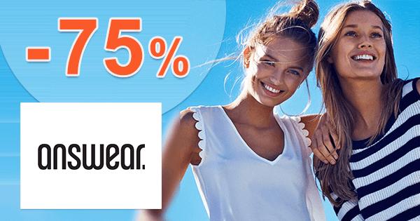 Answear.sk zľavový kód zľava -75%, kupón, akcia, výpredaj, zľavy