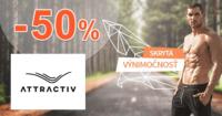 Attractiv.sk zľavový kód zľava -50%, kupón, akcia, akcie, zľavy, výpredaj