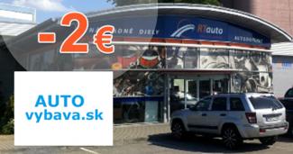 AUTOvybava.sk zľavový kód zľava -2€, kupón, akcia