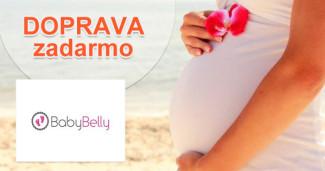 BabyBelly.sk doprava zadarmo pri platbe vopred, akcia, zľava