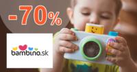 Bambino.sk zľavový kód zľava -70%, kupón, akcia, výpredaj na hračky
