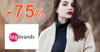 BigBrands.sk zľavový kód zľava -75%, kupón, akcia, výpredaj, zľavy, skladovky