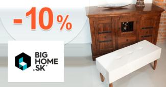 BigHome.sk zľavový kód zľava -10%, kupón, akcia, výpredaj, zľavy na lavice