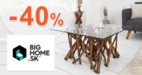 BigHome.sk zľavový kód zľava -40%, kupón, akcia, výpredaj, zľavy na konferenčné stolíky