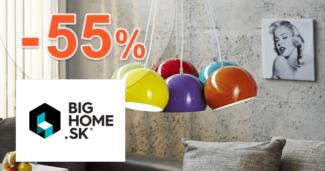 BigHome.sk zľavový kód zľava -55%, kupón, akcia, výpredaj, zľavy na svietidlá