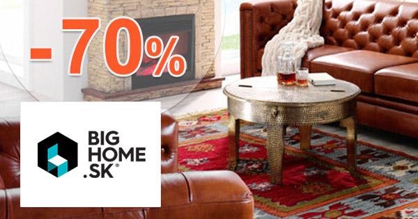 BigHome.sk zľavový kód zľava -70%, kupón, akcia