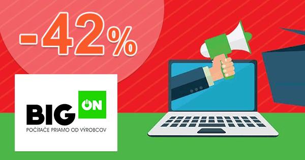 BigON.sk zľavový kód zľava -42%, kupón, akcia